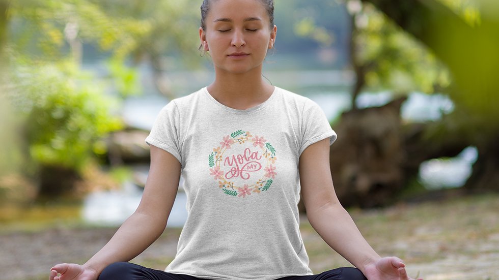 Yoga Day Organic Cotton Open Neck T-Shirt