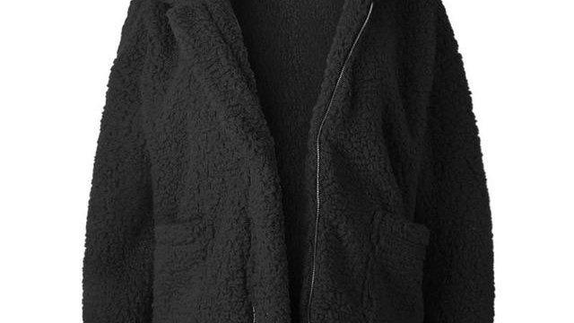 Faux Fur Oversize ladies zippered Jacket