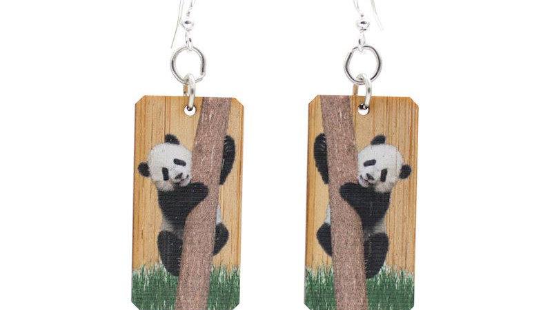 Panda Bamboo Earrings #902