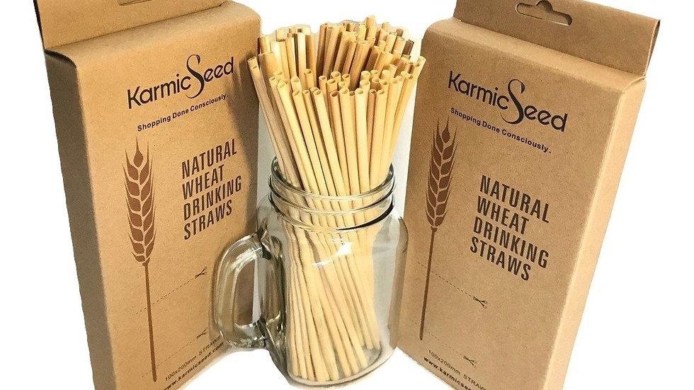 Karmic Seed Wheat Drinking Straws (500 STRAWS) Biodegradable,