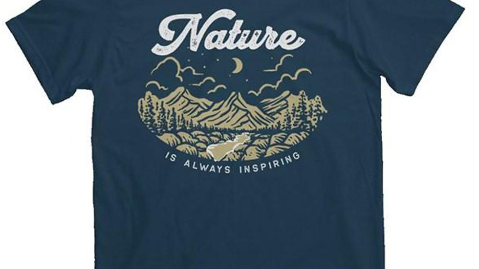 Organic Nature  100% Cotton heavyweight T-Shirt, Limited Edition