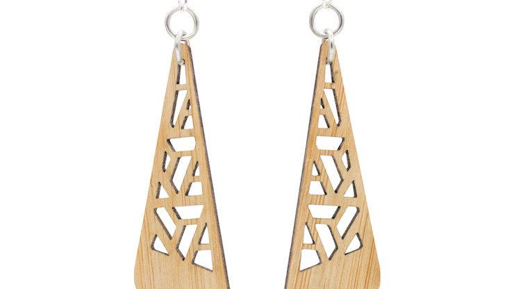 Zetangle Bamboo Earrings, eco-jewelry, sustainable
