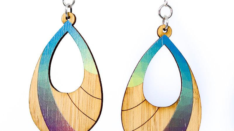 Prism Bamboo Earrings, eco-jewelry, sustainable