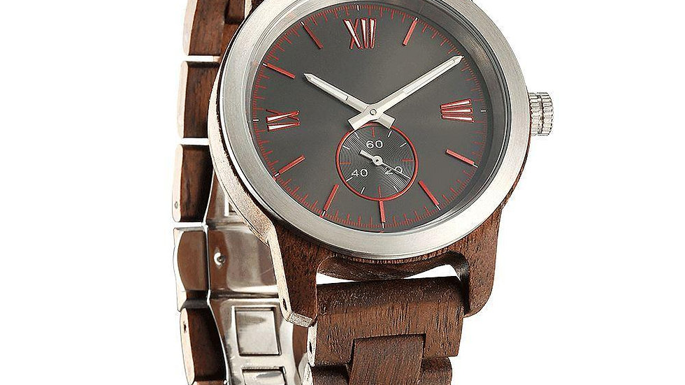Handcrafted Walnut Wood Watch.  Unisex, eco-conscious materials