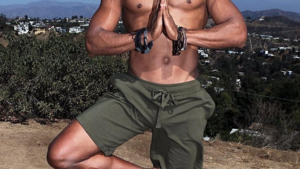 Men's Yoga Shorts Organic Cotton Eco-Friendly