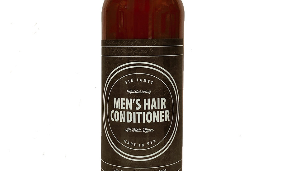Organic and Natural Hair Conditioner for men, hydrates and strengthens.