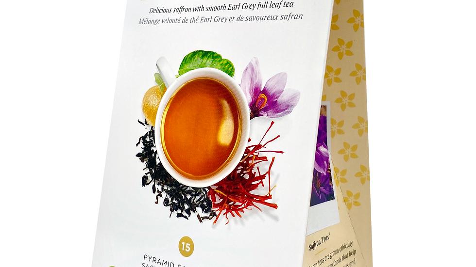Saffron Speciality Earl Grey Tea,  Certified 100% Organic black tea, bergamot