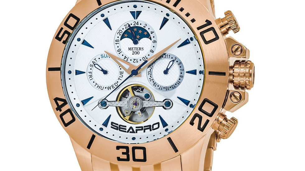 Mens Stainless Steel Watch, scratch resistant, Water Resistant Depth 200 feet
