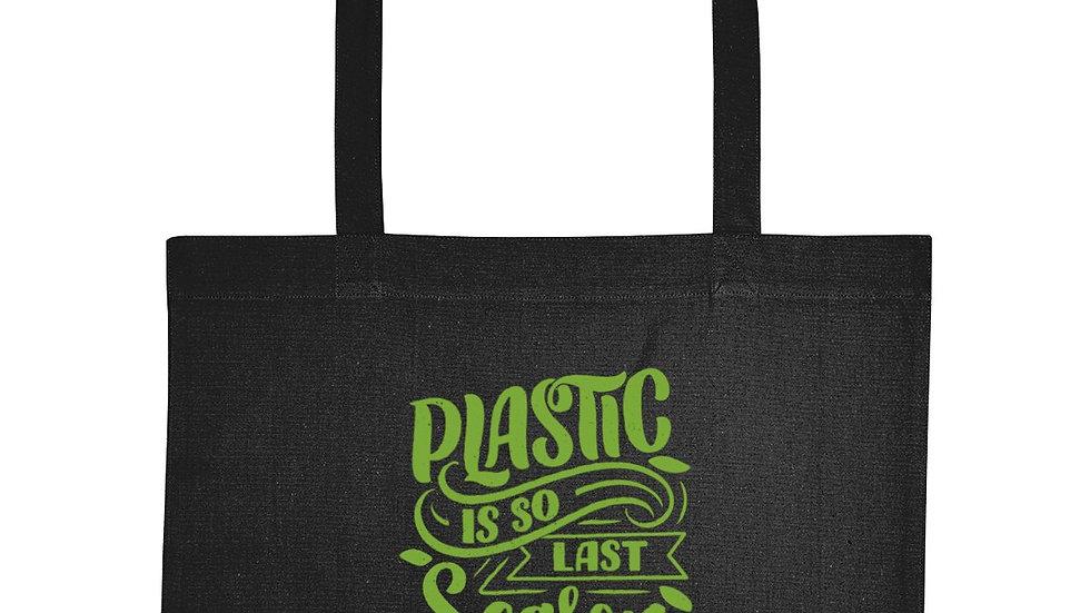 "Recycled Eco-Friendly Shopping Bag ""Plastic Is So Last Season"""