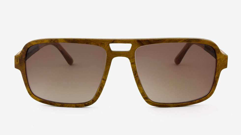 Rockledge Handcrafted Wood Sunglasses, Polarized ready for your prescription.