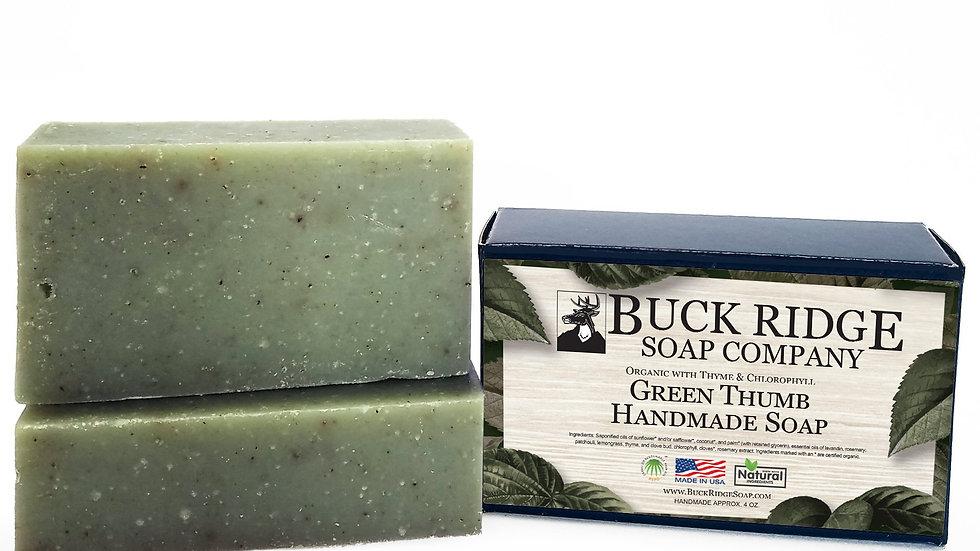 Organic Green Thumb Handmade Soap  fresh greenery smell. Cruelty Free from USA