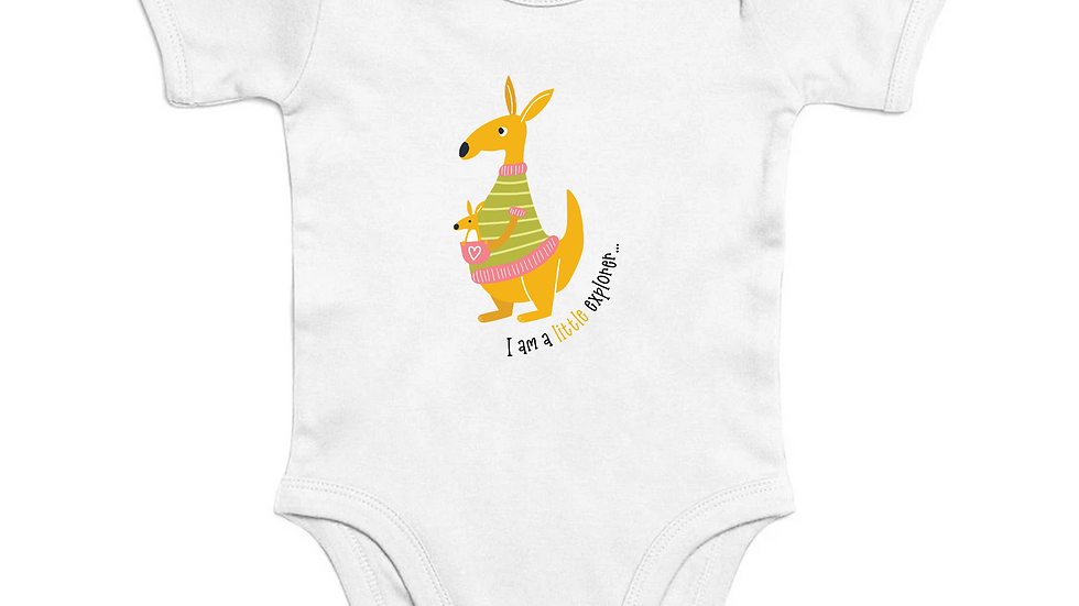 Organic Cotton Short Sleeve Baby Bodysuit, Eco-Friendly Nickel Free Snaps