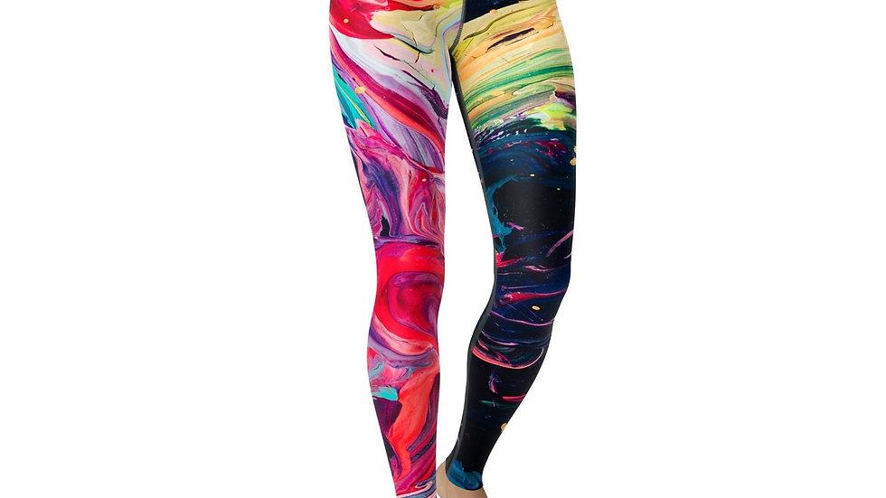 Handmade High Waist Leggings by Buttersoft Love, Paint Stroke Design