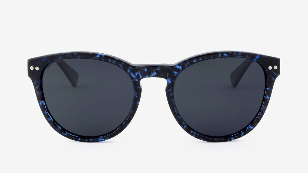 Davie Handcrafted Acetate & Wood Polarized Sunglasses