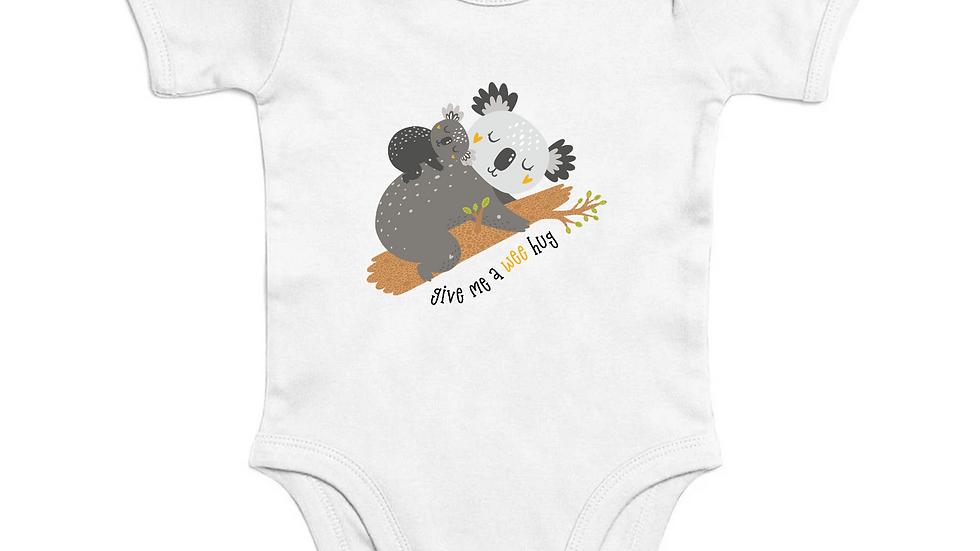 Organic Cotton Short Sleeve Baby Bodysuit, stretchable