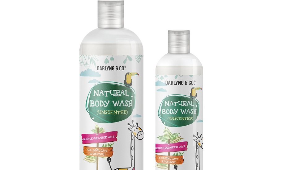 Colloidal Unscented Oats & Coconut Body Wash, toxin and cruelty free.