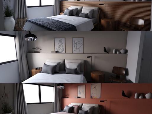 Une chambre...Trois ambiances différentes