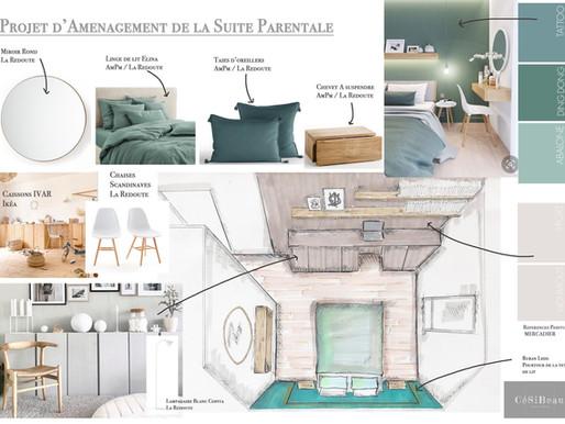 Rénovation d'une chambre à coucher chez M. et Mme D