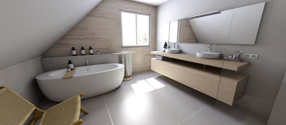Une salle de bain propice à la relaxation