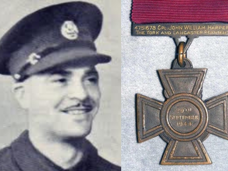Corporal John William Harper VC, 4th Battalion, the York and Lancaster Regiment