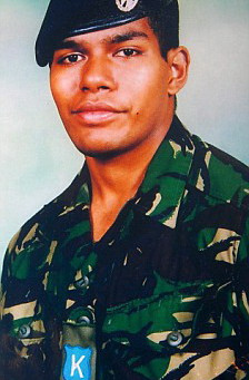 Rifleman Edward Vakabua, 4th Battalion, The Rifles