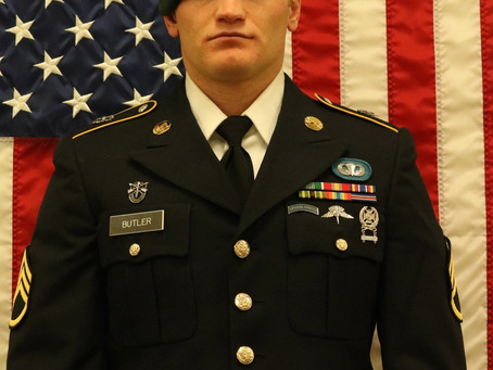 Army Staff Sergeant Aaron R. Butler, Utah National Guard's B Company, 1st Battalion, 19th Special Fo