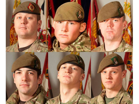 Sergeant Nigel Coupe, Corporal Jake Hartley, Private Anthony Frampton, Private Christopher Kershaw,