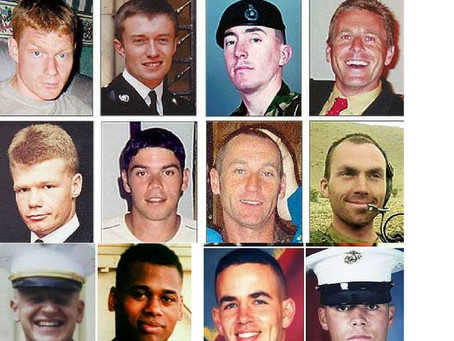 Sea Knight helicopter crash 2003:  eight British and four U.S. service personnel