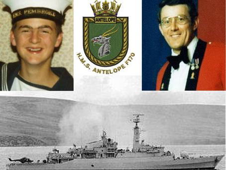 H.M.S. Antelope, the Falklands War - Steward Mark Stephens, and  Staff Sergeant James Prescott, 49 S
