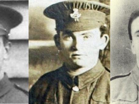 Lance Corporal John McDonald, Lance Corporal Peter Goggins and Sergeant Joseph Stones, 19th (Bantam)