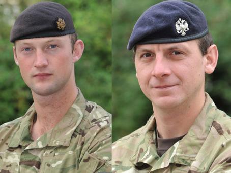 Lieutenant David Boyce and Lance Corporal Richard Scanlon, 1st The Queen's Dragoon Guards