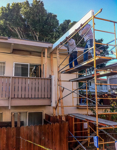 Sanding Exterior, Applying Stain, and Resealing Logs