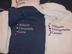Business logo on sweatshirt