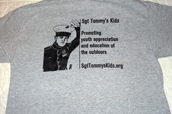 Screen printed back of shirts