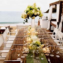Beach wedding - Farm house tables