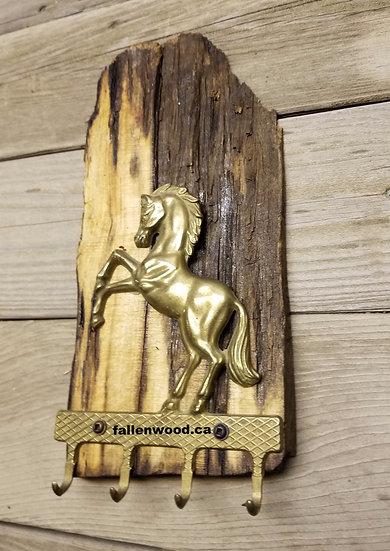 Brass Horse Keyholder