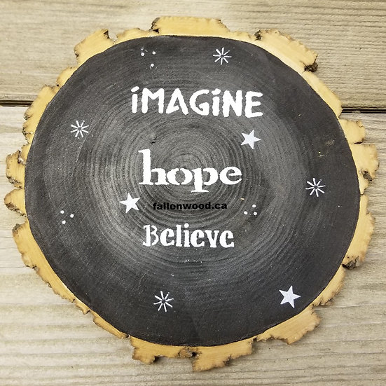 Imagine Hope Believe Sign