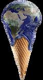 Earth Ice Cream Cone