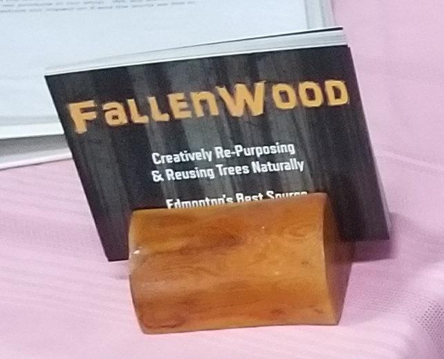 Cherry Wood Postcard Holder