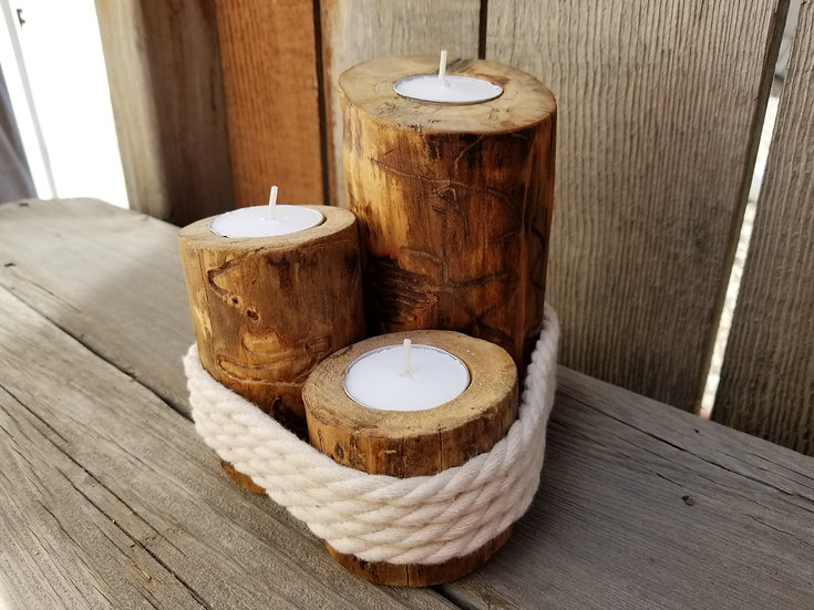 3 Piece Nautical Candle Holders
