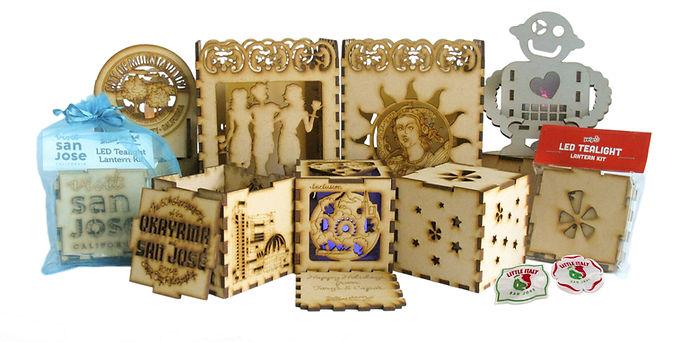 Cube Patio Lantern Pins Custom Collectio