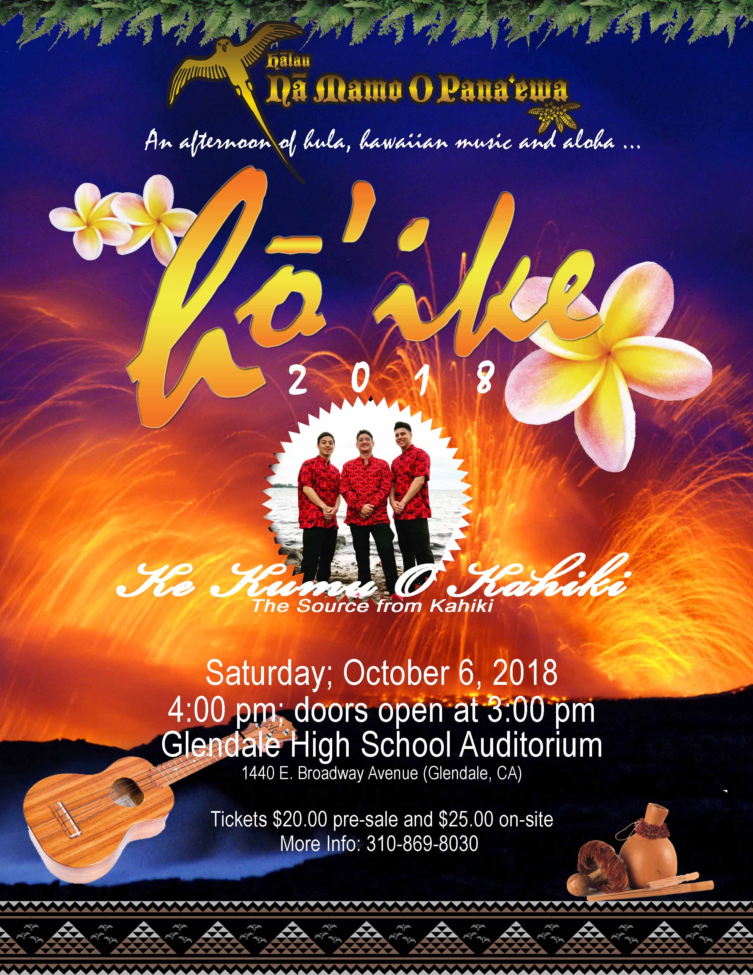 Ho'ike Oct 2018 with Musicians Poster
