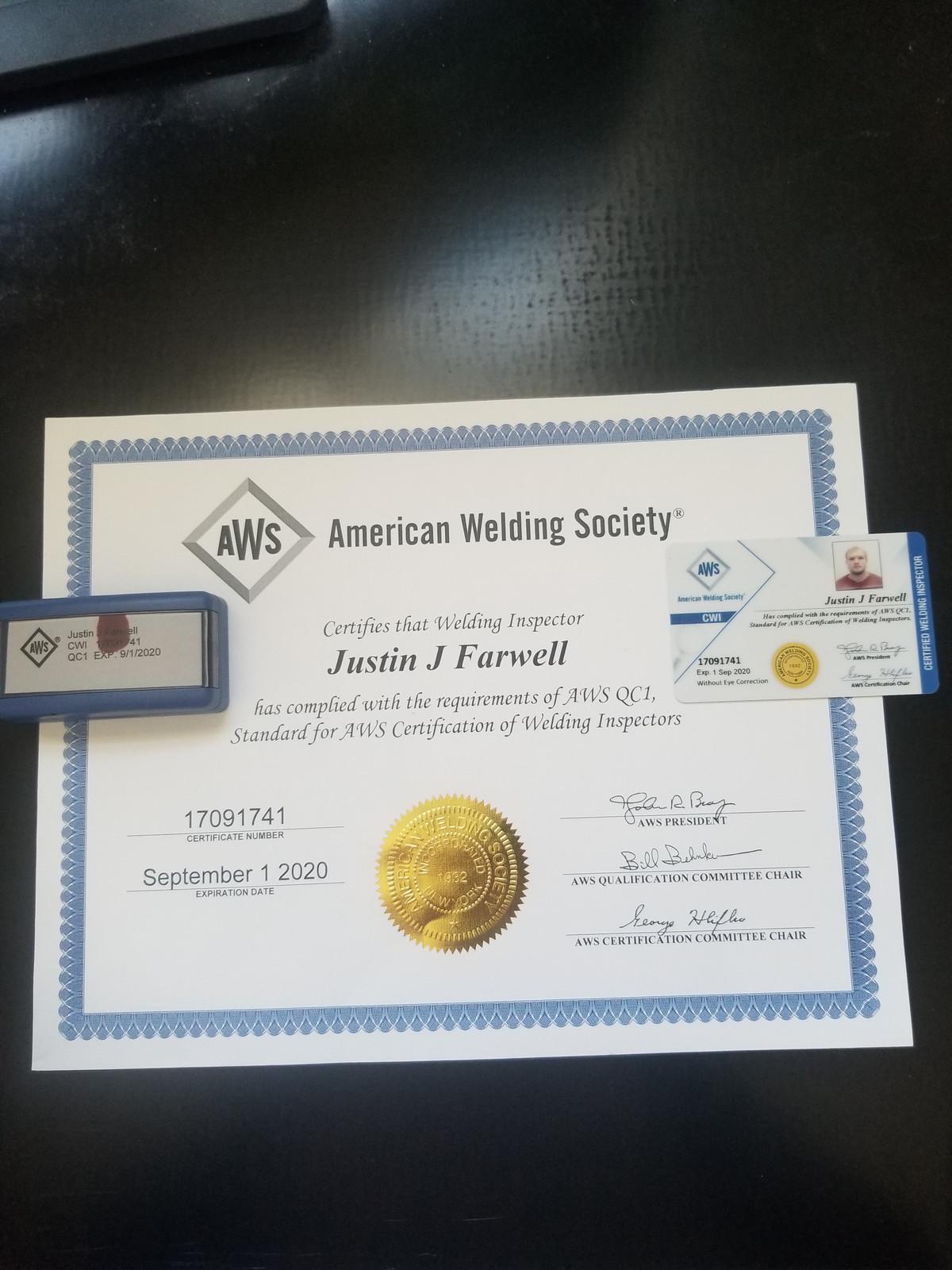 Dallas Mobile Welder Llc Aws Cwi Certified Welding
