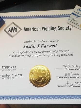 Certified Welding Inspector