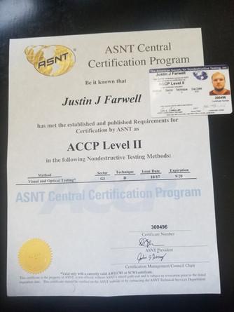 ASNT Level 2 Weld Inspector