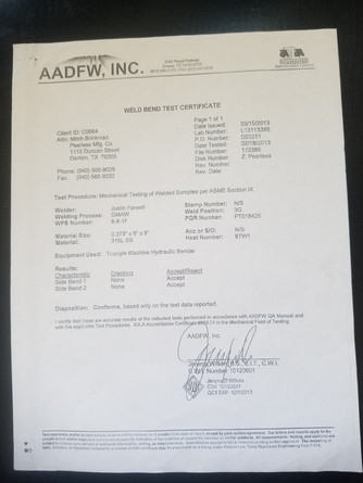 Welding Certification