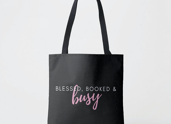 Blessed, Booked & Busy Tote