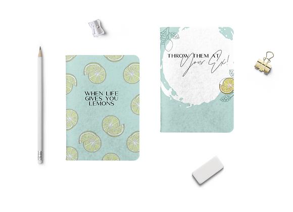 Life Gives You Lemons Notebook (Set of 2)
