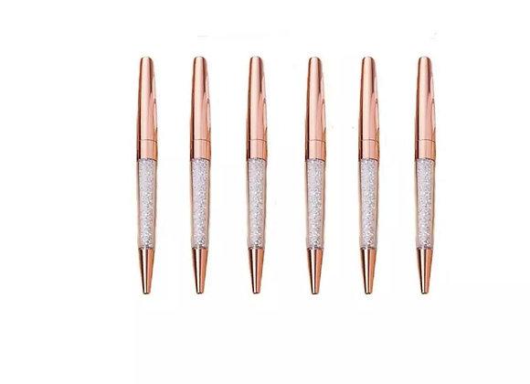 Rose Gold Crystal Pens (Set of 2)