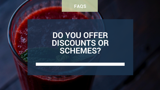 Do you offer discounts or schemes?
